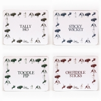 Unique set of four British made Georgie Parker placemats.
